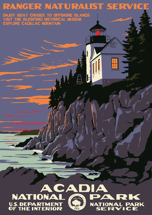 Acadia National Park Contemporary Design Ranger Dougs Enterprises - Acadia national park on the map of the us
