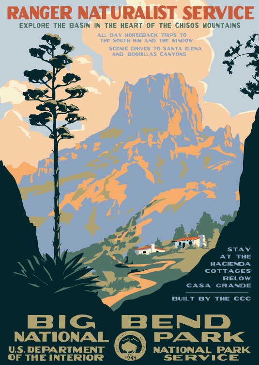 Vintage National Park Posters Part - 16: Between 1935 And 1943 The WPAu0027s Federal Art Project Printed Over Two  Million Posters In 35,000 Different Designs To Stir The Publicu0027s  Imagination For ...